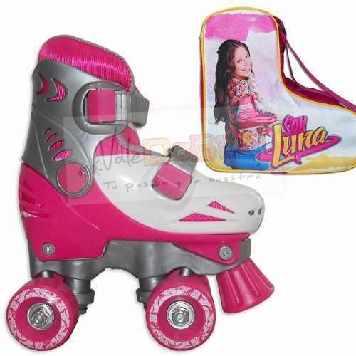 Patines extensibles para nena 4 ruedas + bolso para patines