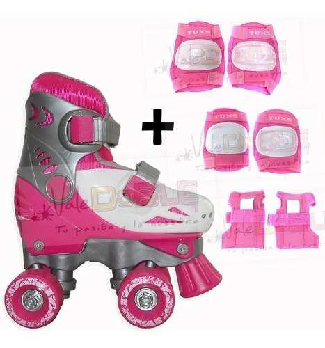Patines extensibles para nena + protecciones