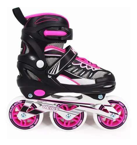 Rollers bw3 3 ruedas en línea rosa talle 34-37 ploppy