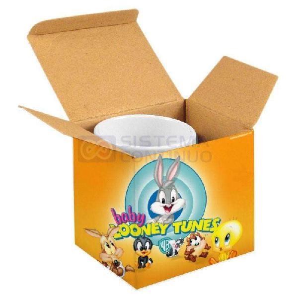 Taza polímero con cajita personalizada sublimada