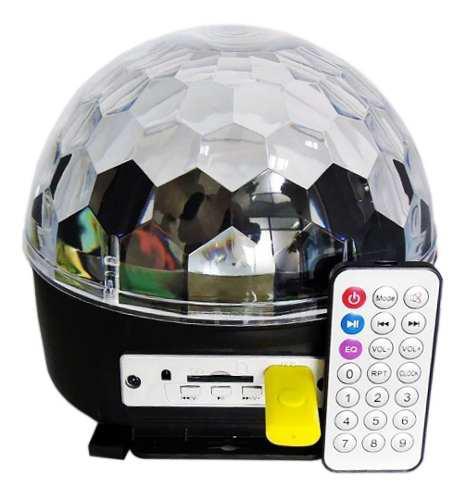 Bola led audioritmica rgb esfera dj sonido usb sd pendrive