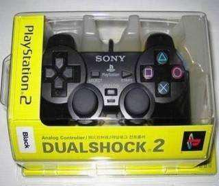 Joystick sony play 2 dualshock negro en blister con