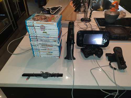 Nintendo wii u con joystick, camara, wimote.