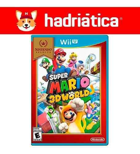 Super mario 3d world wii u fisico nuevo sellado hadriatica