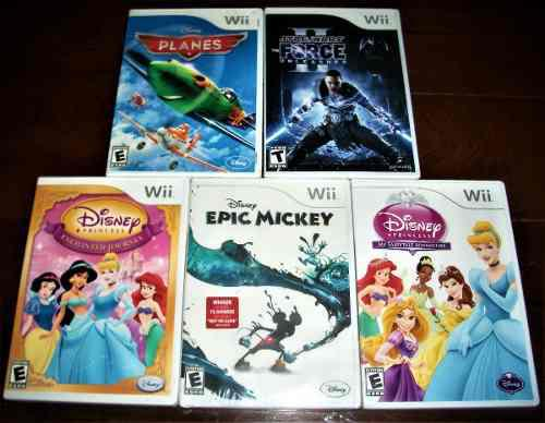 Wii juegos originales combo x 5, baratos...