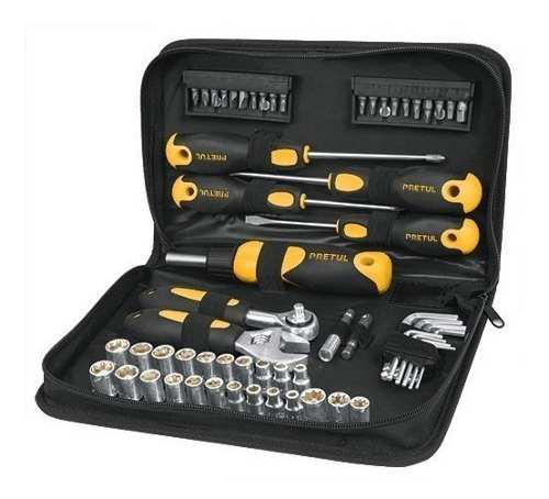 Caja set juego herramientas 61 piezas pretul pda