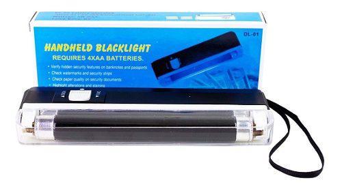 Detector de billetes falsos luz ultravioleta portátil,