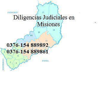 Diligencias judiciales misiones