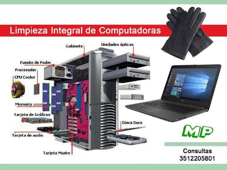 Limpieza integral de computadoras