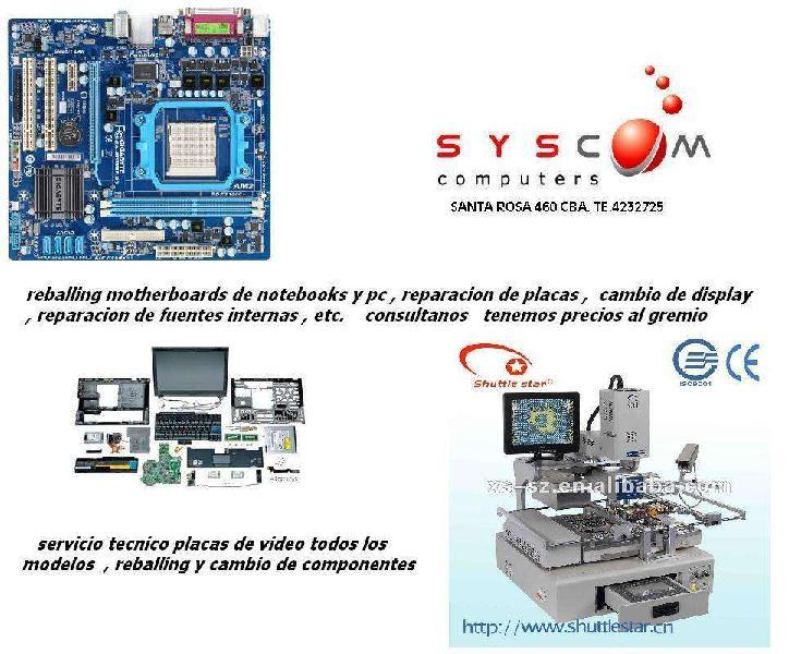 Servicio tecnico electronico de computacion, hardware,