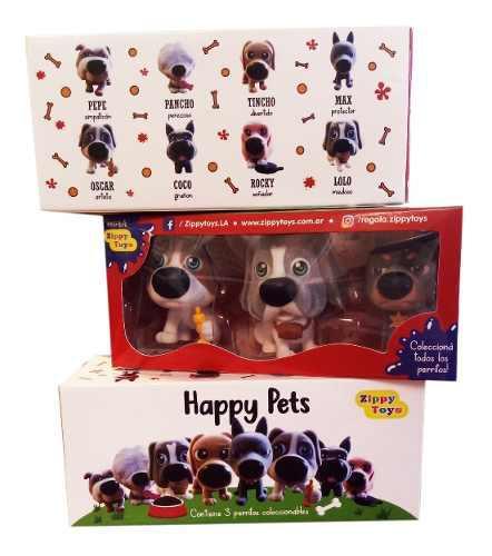 3 cajas coleccion de happy pets, tene la familia completa!