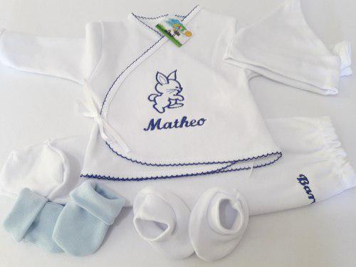 Ajuar de nacimiento personalizado (5 piezas)