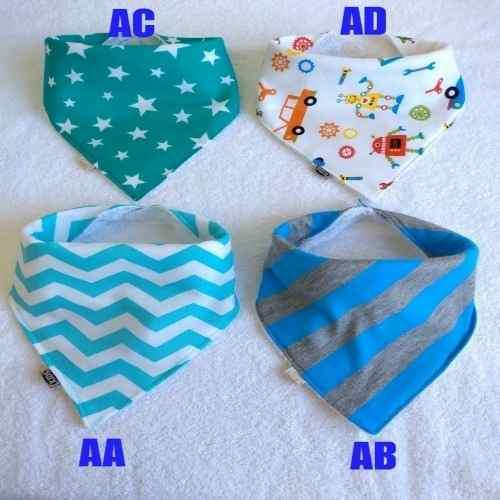 Baberos bandana para nenes x 8 unidades