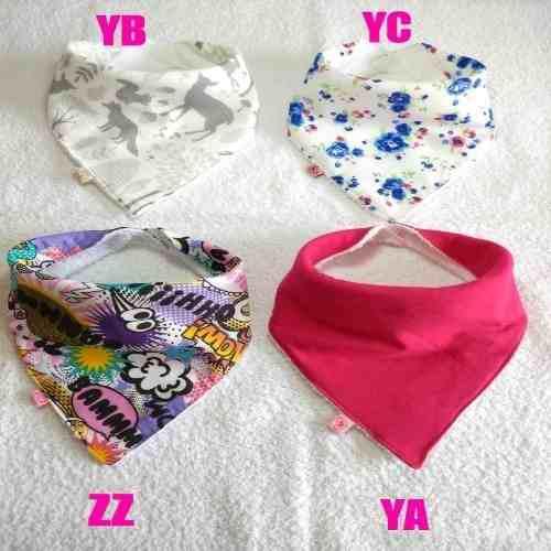 Baberos bandanas para nenas x 8 unidades