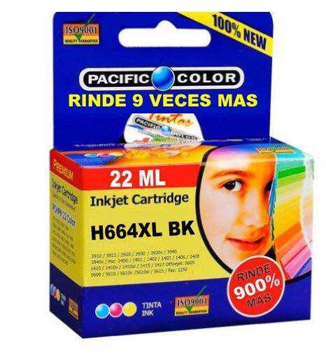Cartucho impresora hp664 xl negro rinde 9 veces alternativo