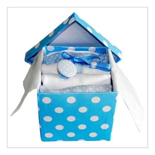 Caja nº1 ajuar bebé nacimiento algodón 7 piezas set cloe