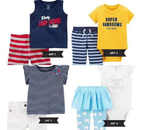 Conjunto dos prendas carters para nena y nene importados