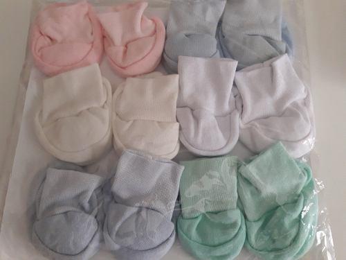 Escarpines de tela - ajuar bebés