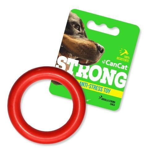 Juguetes perros cachorros aro goma resistente strong cancat