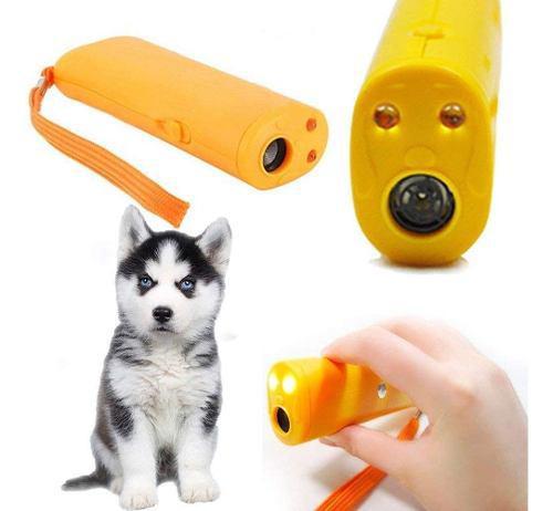 Ahuyentador de perros ultrasonico repelente adiestrador led