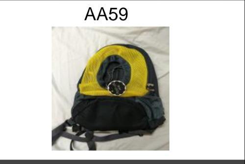 Bolso mochila de transporte para mascota aa59