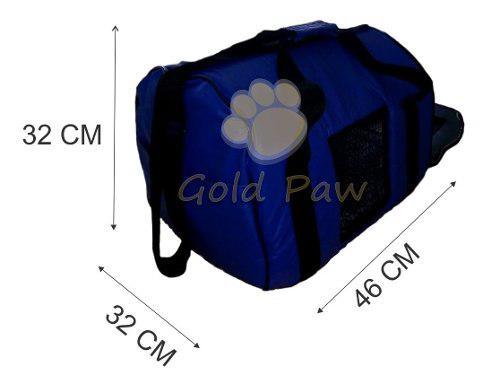 Bolso transporte cuerina grande para mascotas