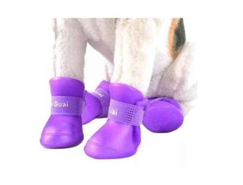 Botitas perro x4 (s, m, l) botas de lluvia silicona zapato