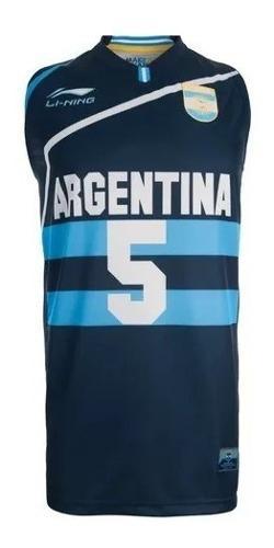 Camiseta de basquet niños seleccion argentina ginobili