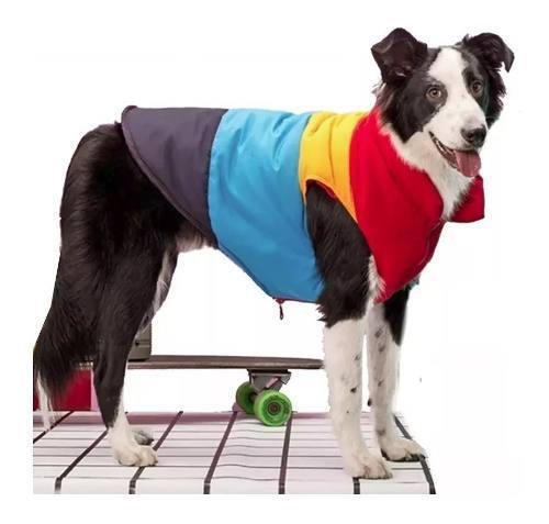 Campera abrigo impermeable reversible perros grandes