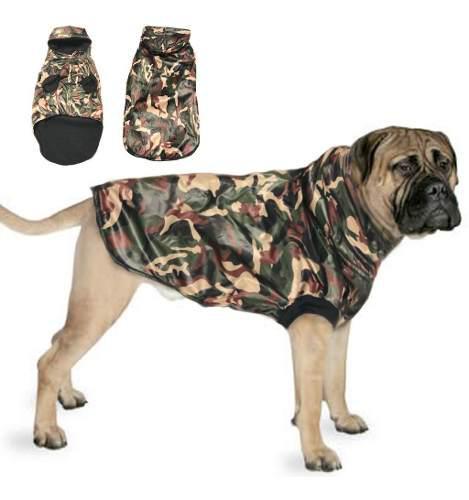 Campera chaleco perro impermeable.reabrigado.talles grandes