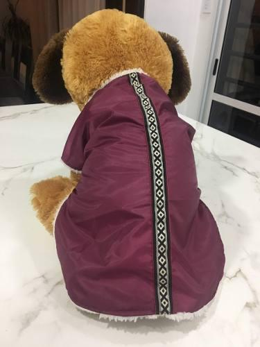 Capa abrigo impermeable con corderito para perros talle xl