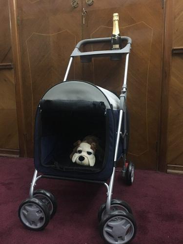 Carrito para transporte perro plegable desarmable