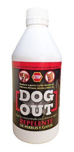 Dog out repelente liquido perros gatos ahuentador 500 cc