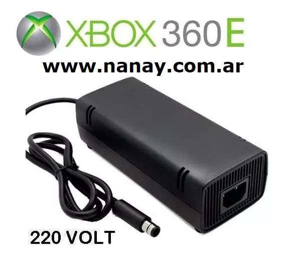 Fuente para xbox 360 e 220v compatible nueva en caja.