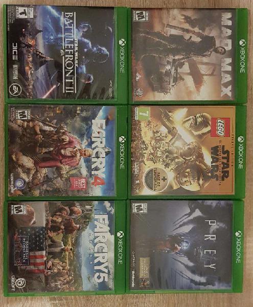 Pack de 5 juegos para xbox one