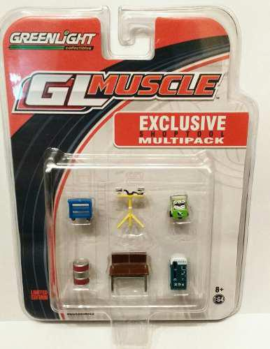 Set multipack herramientas maquina gaseosas greenlight 1/64