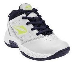 Zapatilla topper basquet niño legend 2 blanca azul