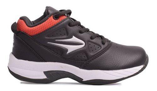 Zapatillas topper legend ii kids (basquet) gris-naranja!! @