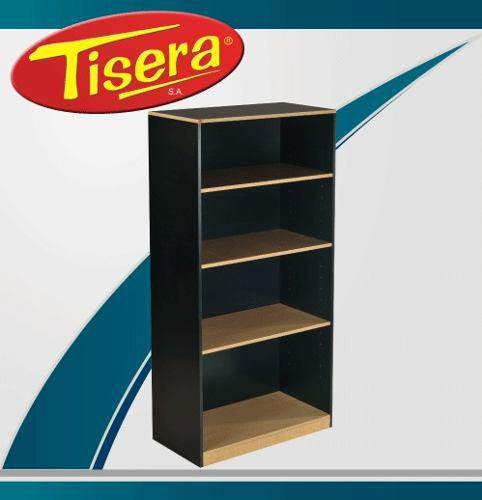 Biblioteca estantes puertas oficina escritorio tisera bib-10