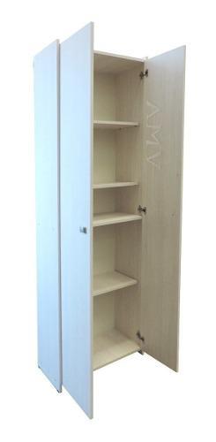 Biblioteca modular 4 estantes con puertas completo orlandi
