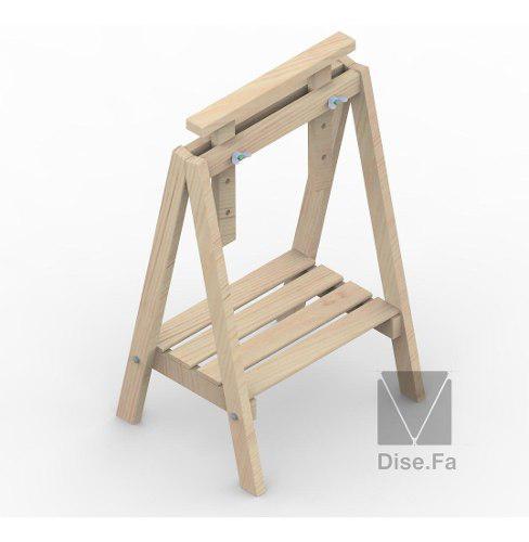 Caballetes regulables de madera para escritorios o mesa