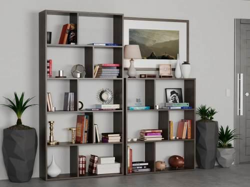 Combo 2 biblioteca cubo moderna oficina estanteria modular