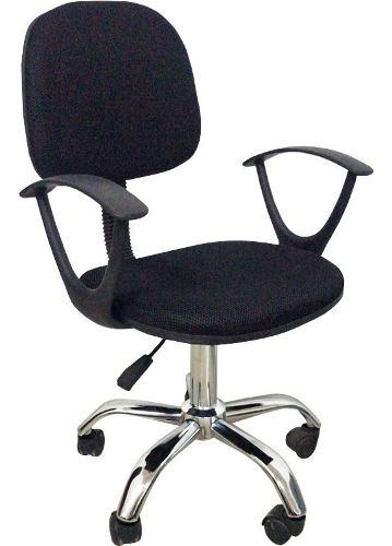Silla de escritorio unica base metal tapizado mesh regulable