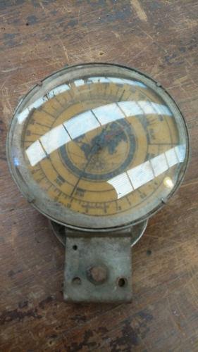 Antiguo dial reloj de radio, vidrio bombee original,repuesto