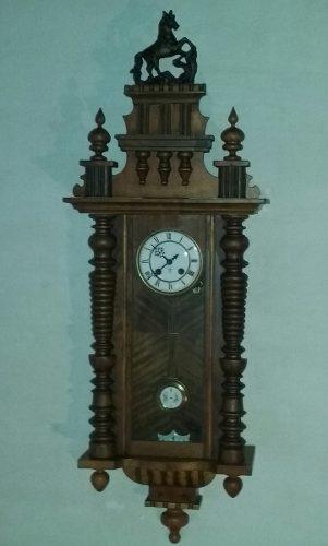 Antiguo reloj de pared a pendulo gustav becker año 1875