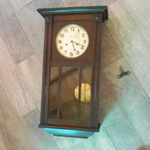 Antiguo reloj pared alemán junghans wurttemberg escasany ms