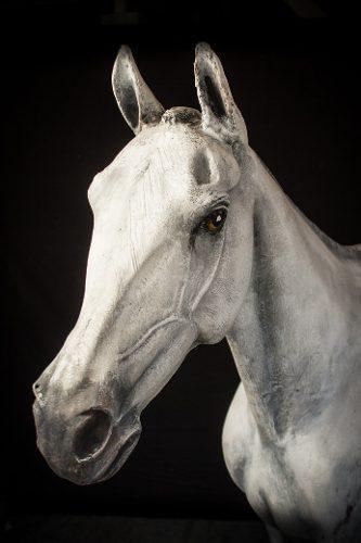 Arte, artesanias, esculturas, cabeza caballo, hiperrealista