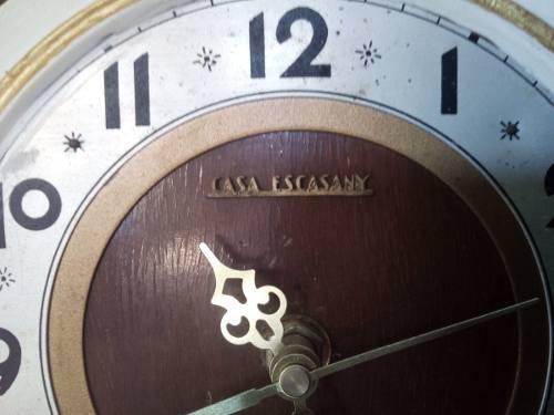 Casa escassany reloj de mesa madera antiguo