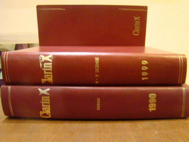Colección completa encuadernada de diarios clarín de la