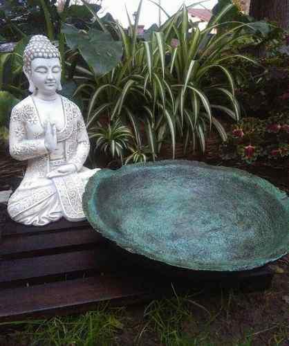 Jardin zen, altar zen, buda, cuenco, meditación, grande